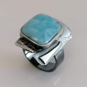 Ring 925 Silber mit Larimar
